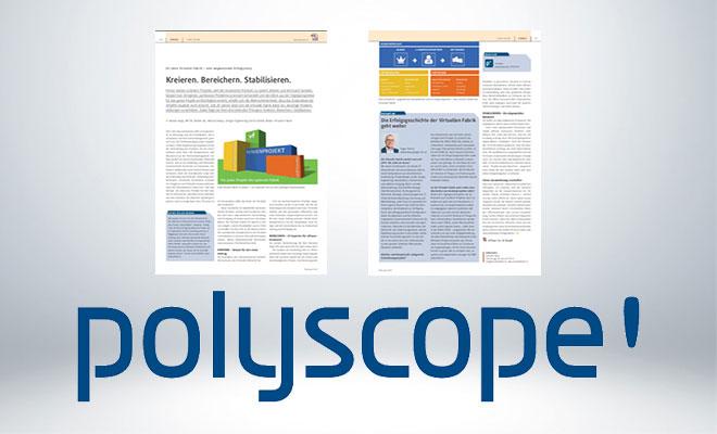 Polyscope Artikel über die Virtuelle Fabrik